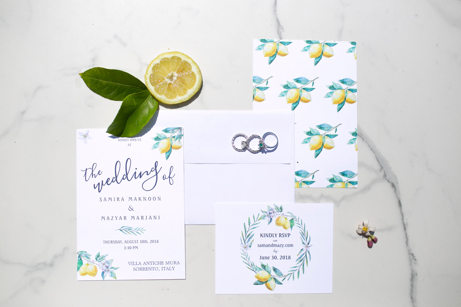 wedding stationery Sorrento