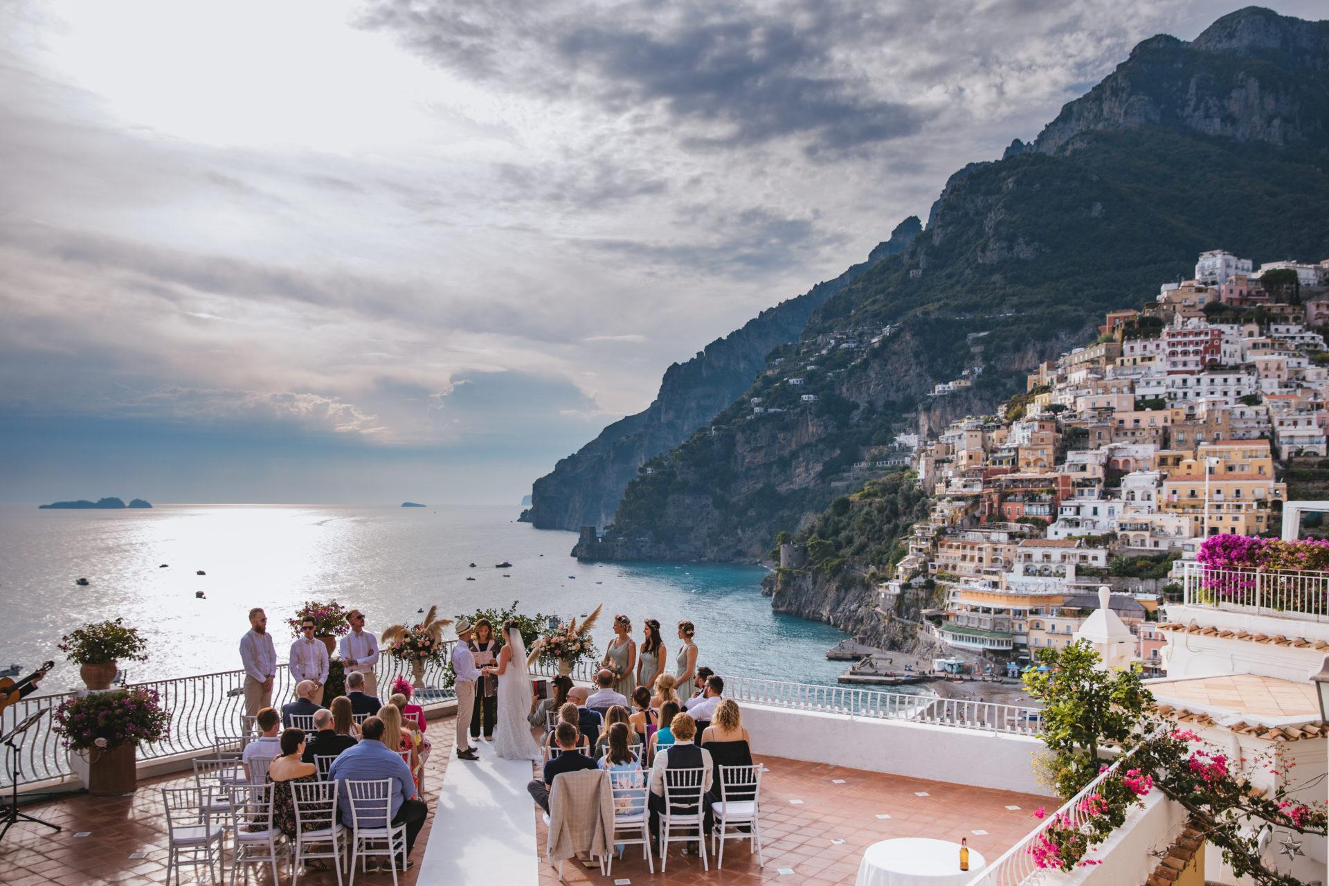 sea view wedding in Positano