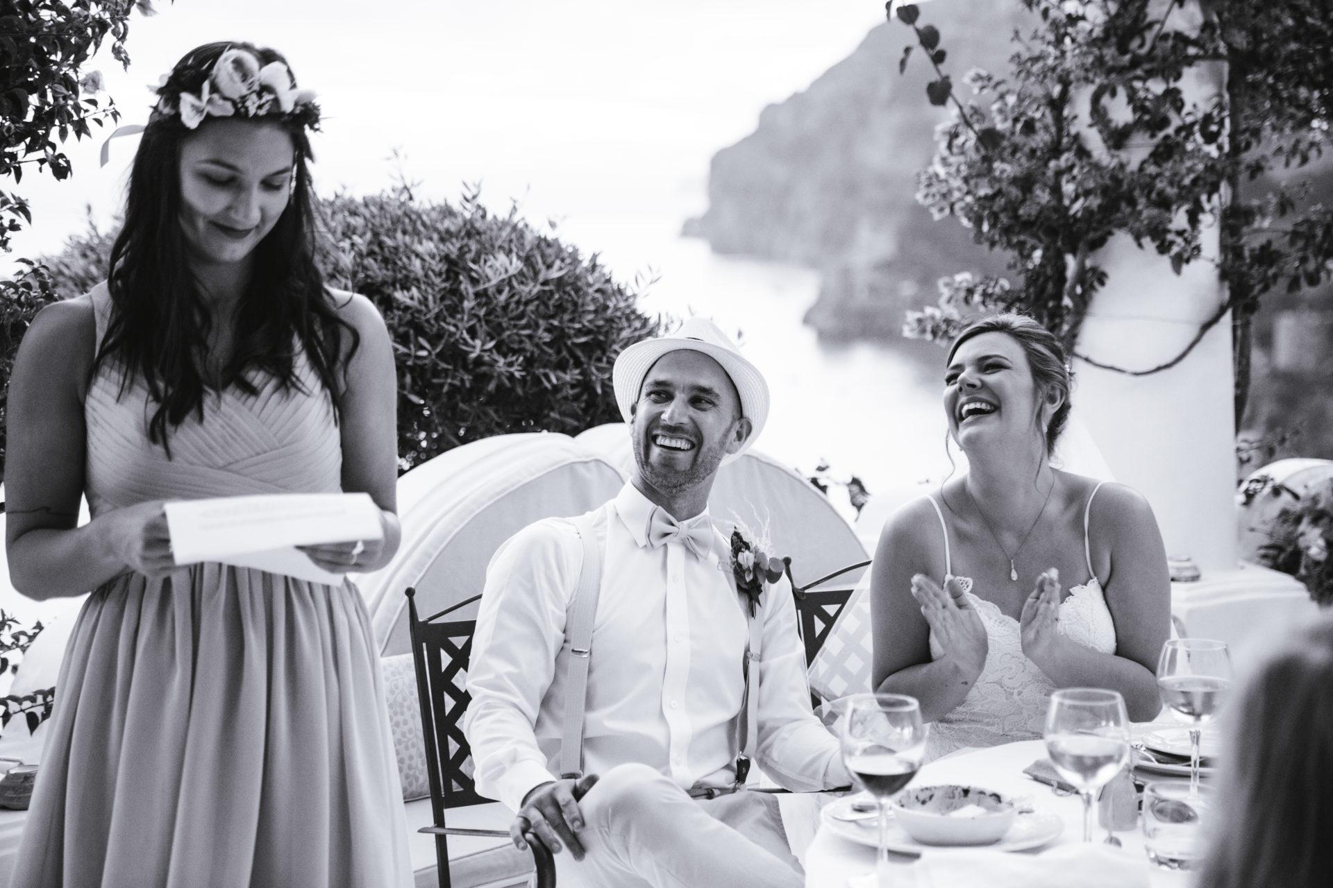 Positano wedding speeches
