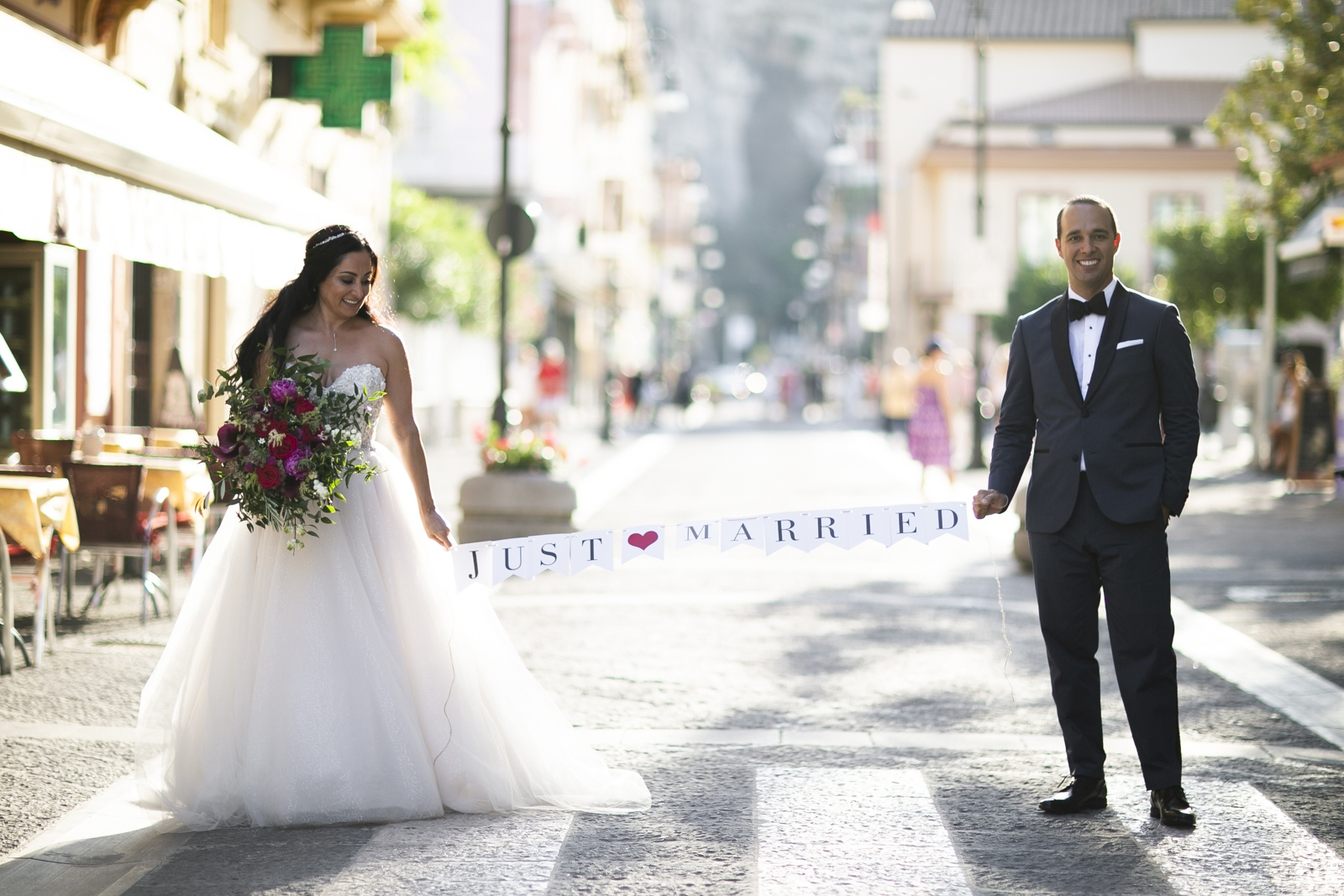 just married in Sorrento